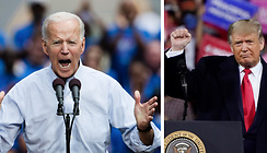 Joe Biden, Valet i USA 2020, Donald Trump