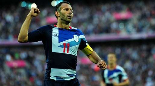 OS i London, Fotboll, Storbritannien, Nationalsång, Ryan Giggs