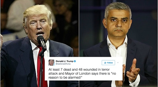 Donald Trump, Terrorattack, London, Terrorattacken på London Bridge
