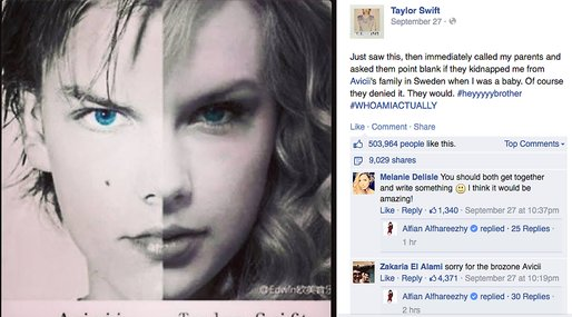 Taylor Swift, Avicii,  True