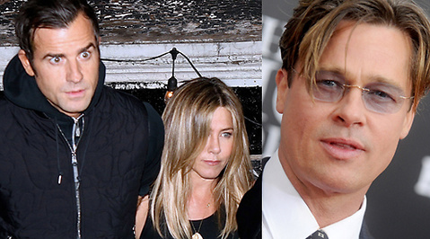 instagram, justin theroux, Jennifer Aniston, Brad Pitt