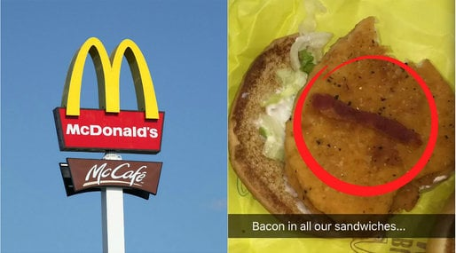 Muslim, McDonalds, Bacon