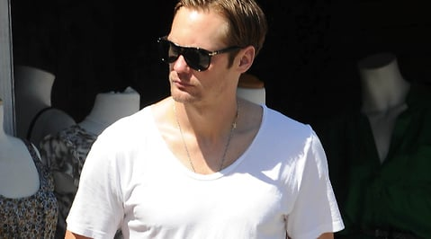 Paparazzi, True Blood, Promenad, tv-serie, Alexander Skarsgård, Vampyr, Hollywood
