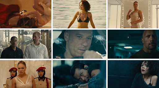 Tyrese Gibson, Dwayne Johnson, paul walker, Ronda Rousey, fast and the furious, Michelle Rodriguez, Vin Diesel