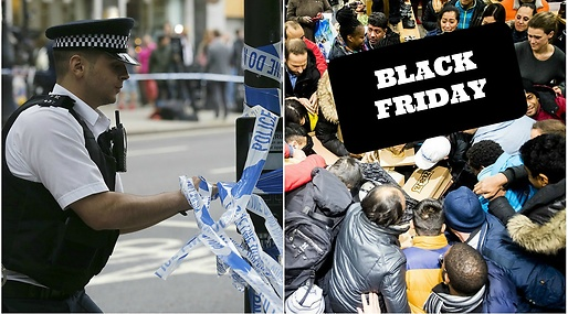 Knivar, Polisen, Leeds, Black Friday