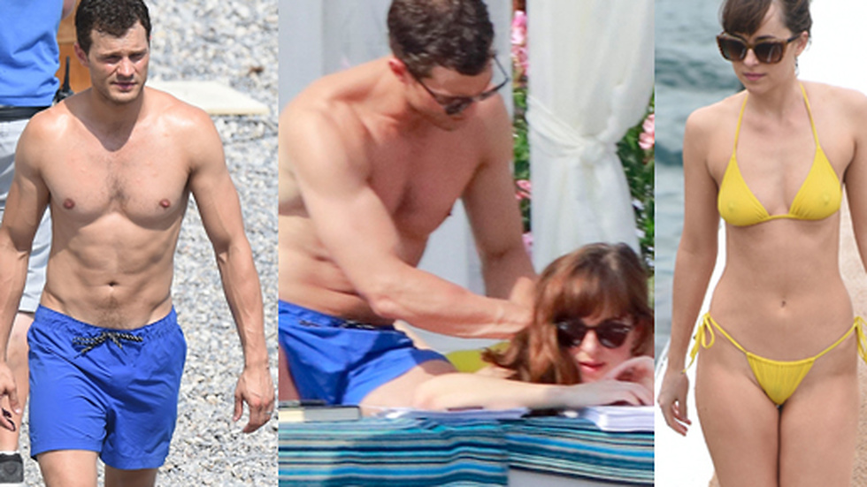 Jamie Dornan och Dakota Johnson spelar in Fifty shades Darker i Nice.