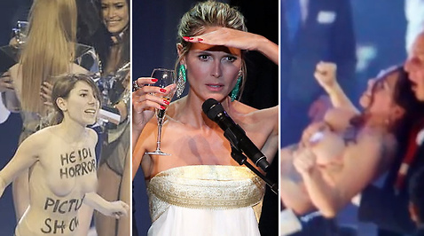 Top Model, naken, Heidi Klum, Aktivist, FEMEN