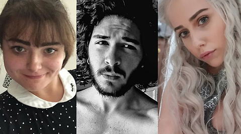 Emilia Clarke, game of thrones, Jon Snow, kit harrington