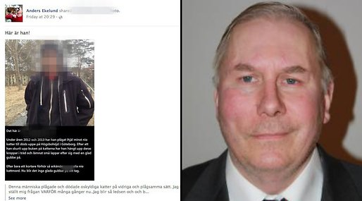 Anders Ekelund, Partille,  Kattmördare, Facebook, Högsbo, Moderaterna