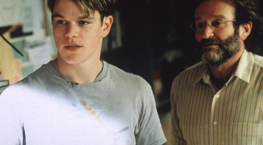 Matt Damon,  Good Will Hunting, Robin Williams, Ben Affleck