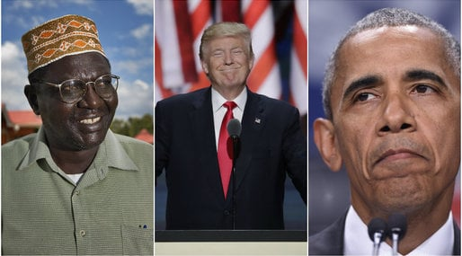 Malik Obama, Donald Trump, Barack Obama, USA