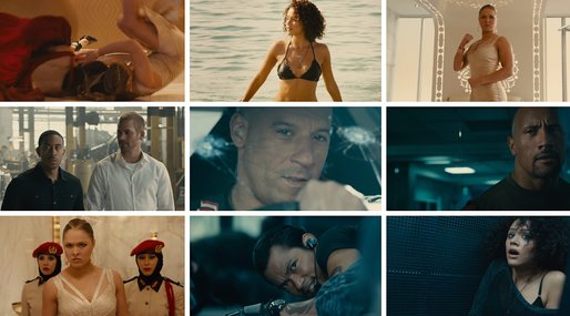 Vin Diesel, Dwayne Johnson,  fast and the furious, Tyrese Gibson, paul walker, Ronda Rousey, Michelle Rodriguez