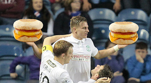 Fotboll, McDonalds,  Hibernian, Skottland,  McMuffin, Jason Cummings