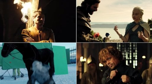Bloopers, game of thrones,  khaleesi,  season 4