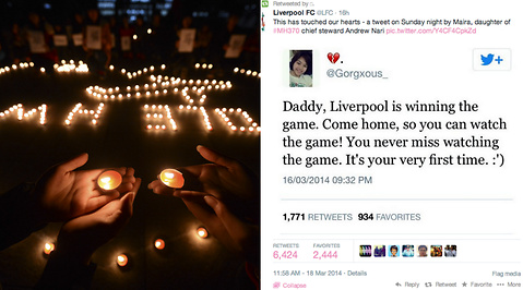 Manchester United, MH370, Liverpool FC