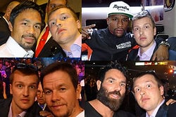 Mark Wahlberg,  floyd mayweather, boxning, Dan Bilzerian,  Steve Carruthers , Manny Pacquiao, Leonardo DiCaprio