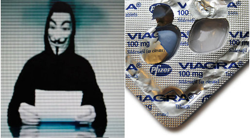 Hackare, is, Anonymous, Hemsida, Viagra