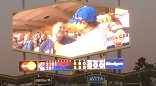 Kisscam, Baseboll, Arizona Diamondbacks, Los Angeles Dodgers