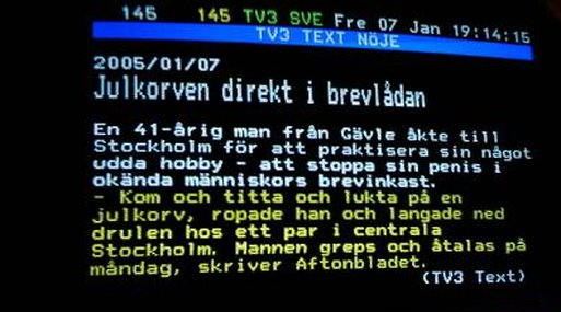 TV, SVT, Årsdag, TV3, Text-TV, TV4