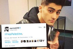 Palestina, Twitter, Zayn Malik, One direction