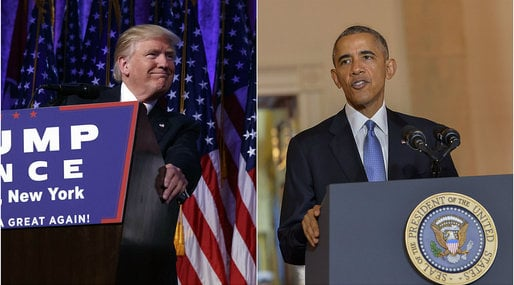 Barack Obama, Donald Trump, President