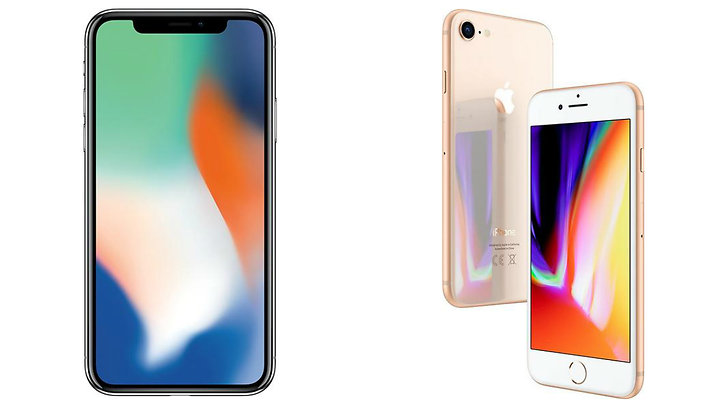 iPhone X och iPhone 8
