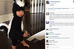 North West, kardashian, Kim Kardashian, instagram,  Kanye, Halloween