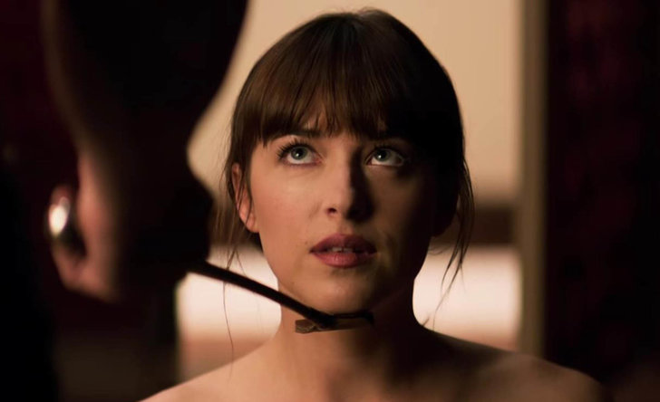 Dakota Johnson som Anastasia Steele i