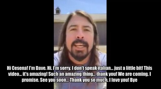 Italien, Dave Grohl, Foo Fighters, Fans, Video