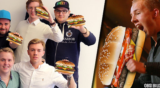 Fragbite, Heaton, My burger, McDonalds, Hamburgare, E-sport