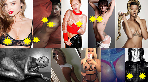 Miley Cyrus, Rihanna, Terry Richardson, Lady Gaga, Nicki Minaj, instagram