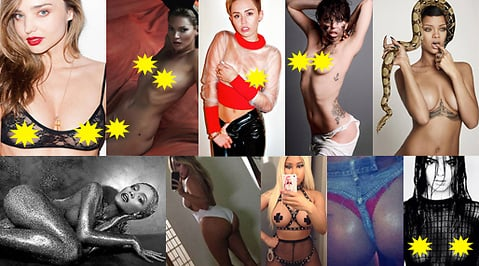 Nicki Minaj, Lady Gaga, Rihanna, instagram, Miley Cyrus, Terry Richardson