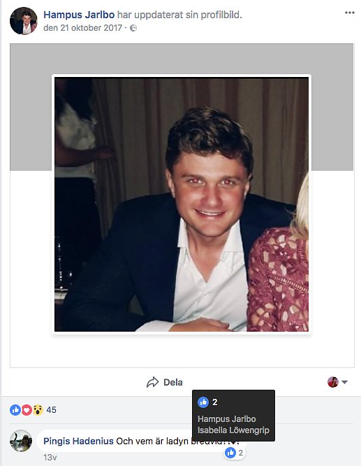 Hampus Jarlbo på Facebook.