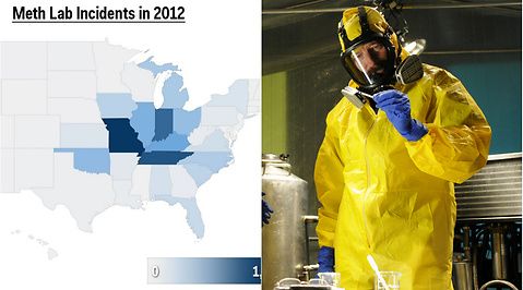 Metamfetamin, USA, Karta, Breaking Bad