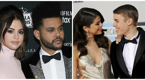 Justin Bieber, Selena Gomez, The Weeknd