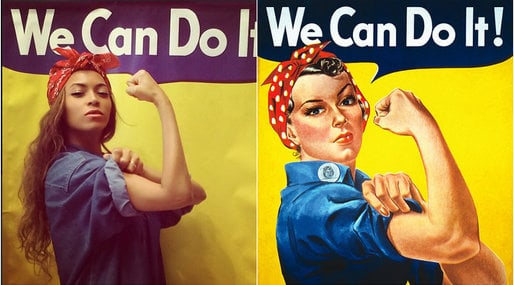 Beyonce, instagram, Feminism,  We can do it