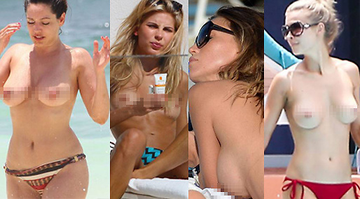Mode, Kelly Brook, Modell, Topless, Kate Moss
