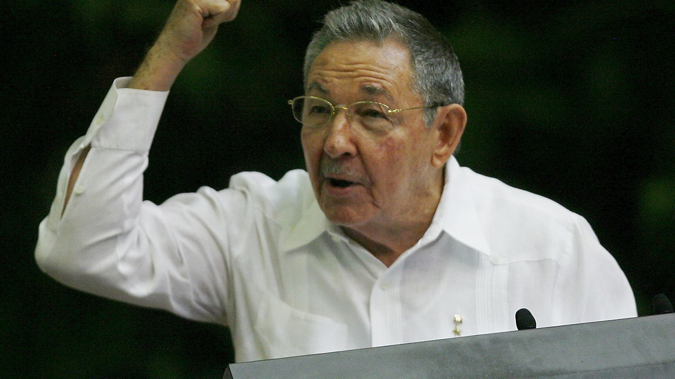 Raúl Castro under kongressen.