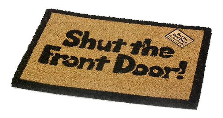 Shut the front door dörrmatta