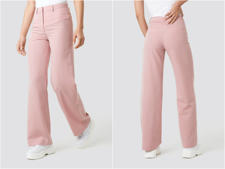 NA-KD Pinstriped Wide Suit Pants Rosa