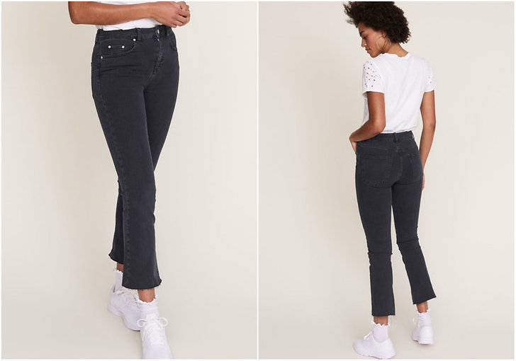 Grå jeans flare Gina Tricot