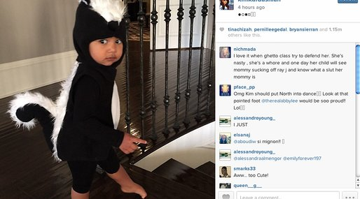 Kanye, kardashian, instagram, Kim Kardashian, Halloween,  North West
