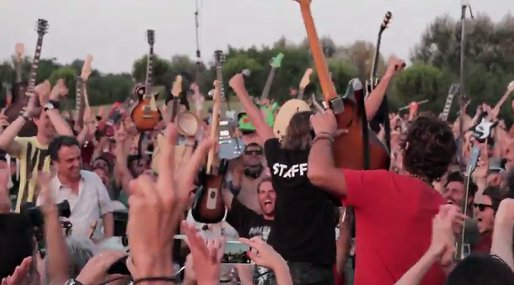 Video, Foo Fighters, Italien,  leran how to fly