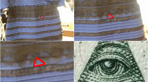 Illuminati, optisk illusion, thedress