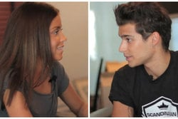 Eric Saade, Nicole Falciani Grängshem,  Forgive me, Video, Nicky, Intervju