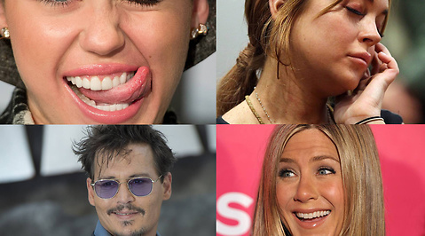 Lindsay Lohan, Miley Cyrus, Johnny Depp, Paris Hilton