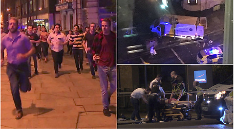 Vittnen, Terrorattacken på London Bridge, Terrordåd