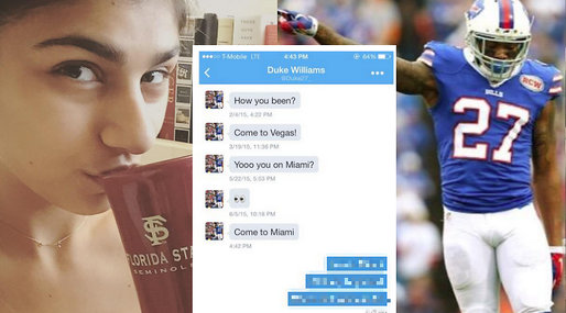 porrstjärna,  Duke Williams, Buffalo Bills, NFL,  Mia Khalifa