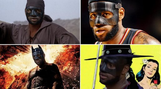LeBron James, NBA, Batman, Mask, Superhjälte