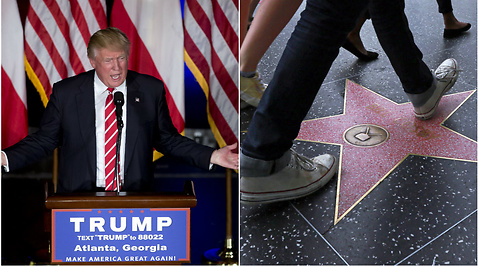Vandalism, Hollywood, Donald Trump